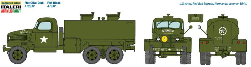 1:35 US 2,5t 6x6 Water Tank Truck Italeri 201
