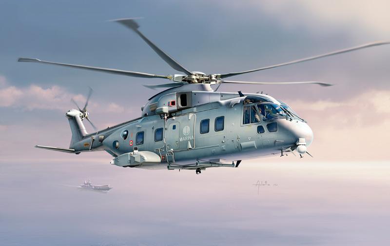 Die cast 1//72 Modellino Elicottero Helicopter Agusta Westland AW-101 Merlin HC-3