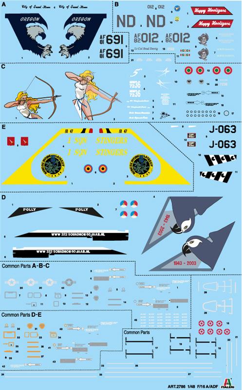 ITALERI - F-16 A Fighting Falcon
