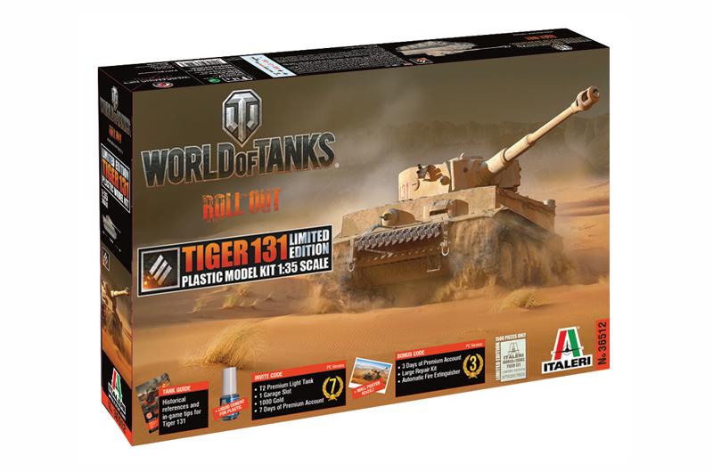 ITALERI - World of Tanks -TIGER 131 ''Limited edition''