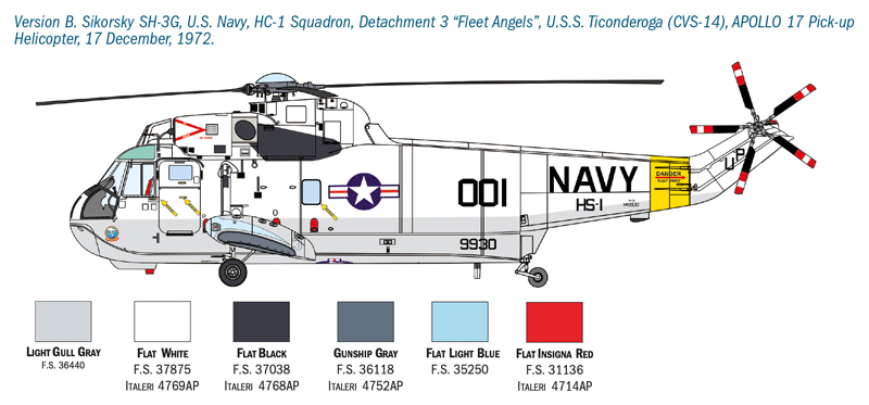ITALERI - SH-3D Sea King Apollo Recovery