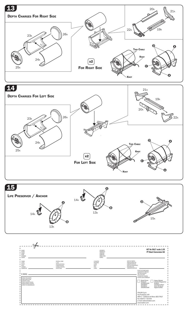Italeri PT Boat Conversion Kit