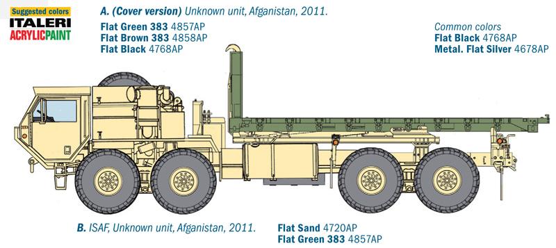 Italeri 6525-1//35 M1120 Hemtt Load Handling System Neu