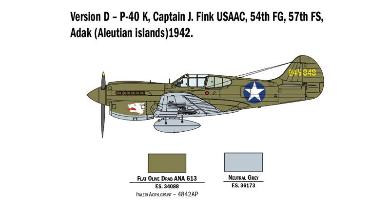 Acrylic Colors Set WWII Usaac Aircraft ITALERI