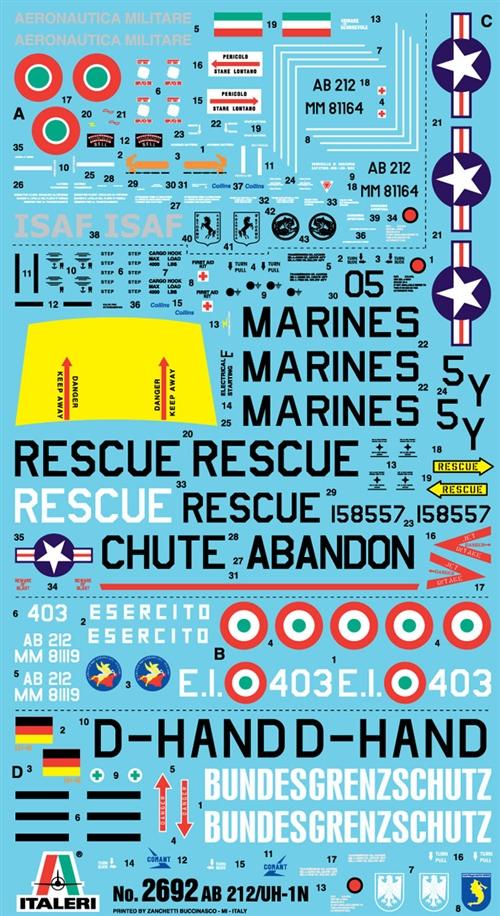 UH-1N ITALERI 2692 1//48 BELL AB 212