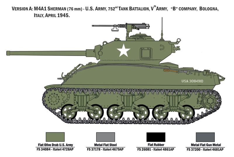 ITALERI - M4A1 SHERMAN with U S  infantry