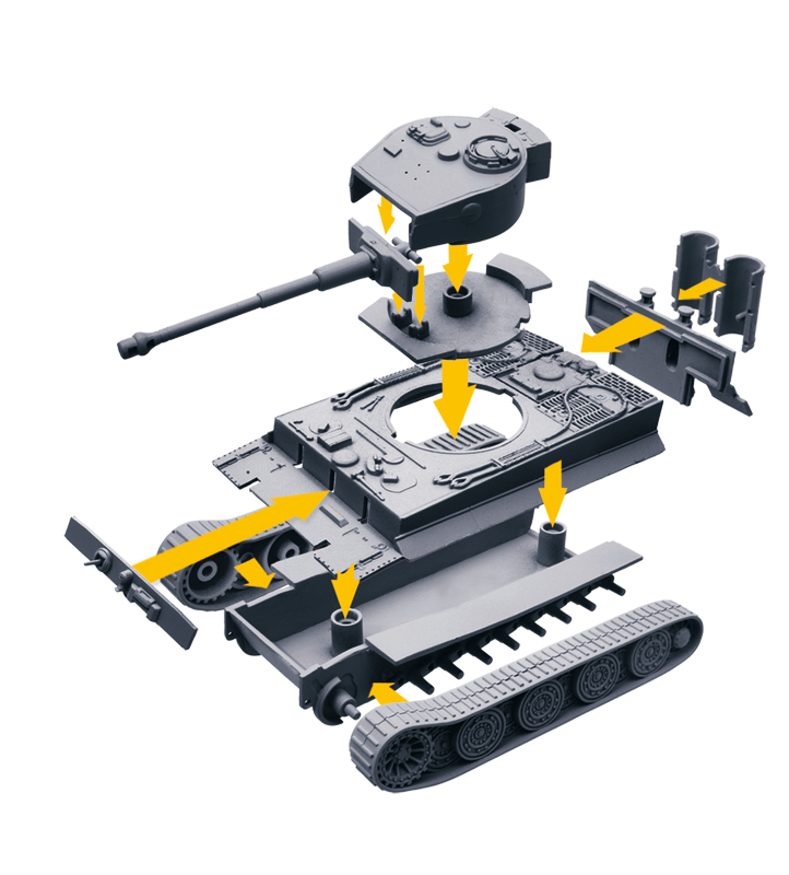 34103 Italeri World of Tanks TIGER Panzer Tank Bausatz Model Kit 1:72 Art