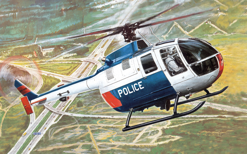 BO 105 Police Helicopter My First Model Kit